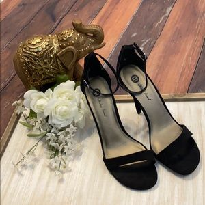 New Black Strappy High Heel Sandals 8.5